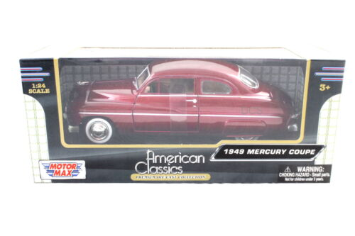 MotorMax 1949 Ford Mercury Coupe Red / Burgundy 1/24 Auto Diecast cars