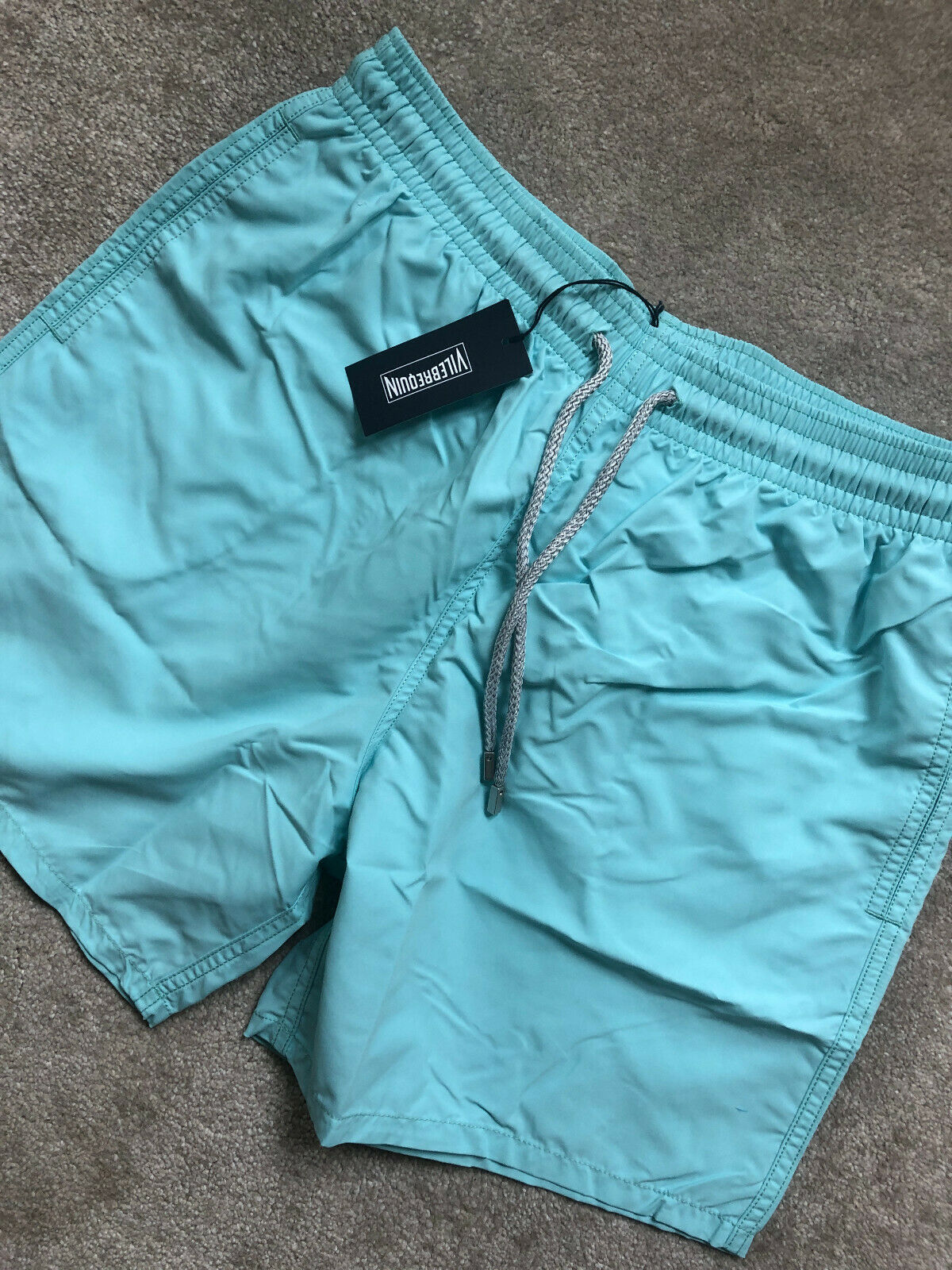 VILEBREQUIN TURQUOISE MOOREA LAGON SWIM SHORTS SWIMWEAR MOOP701P - XL - NEW TAGS