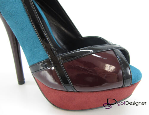 NEW Womens Fashion Party Shoes Heels Platforms Pumps Pink Silver Open//Peep Toe