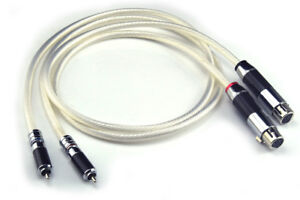 RCA to XLR Cable High Quality 6N Silver Plated 2RCA Male to 2XLR Male Cable