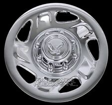 "4 New Ford Truck Van 16"" 8 Lug Chrome Wheel Covers Full Hub Caps for Steel Rim"