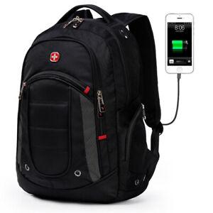 Fashion Swissgear Laptop Backpack Computer sport  Waterproof Travel School Bag