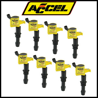 Accel 140033-8 Ignition Coil Ford 3 Valve Modular Engine 4.6L//5.4L 8-Pack