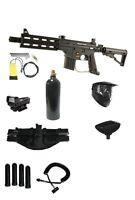 Tippmann Project Salvo Paintball Gun Ultra Set,red Dot,mask,tank,remote,4+1pack