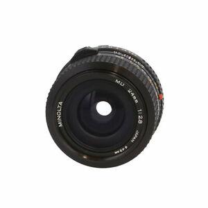 Minolta 24mm F/2.8 MD Mount Manual Focus Lens Black {49} BG