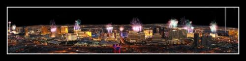 Las Vegas Poster Helicopter View from the Rio at New Years #995 FREE SHIPPING