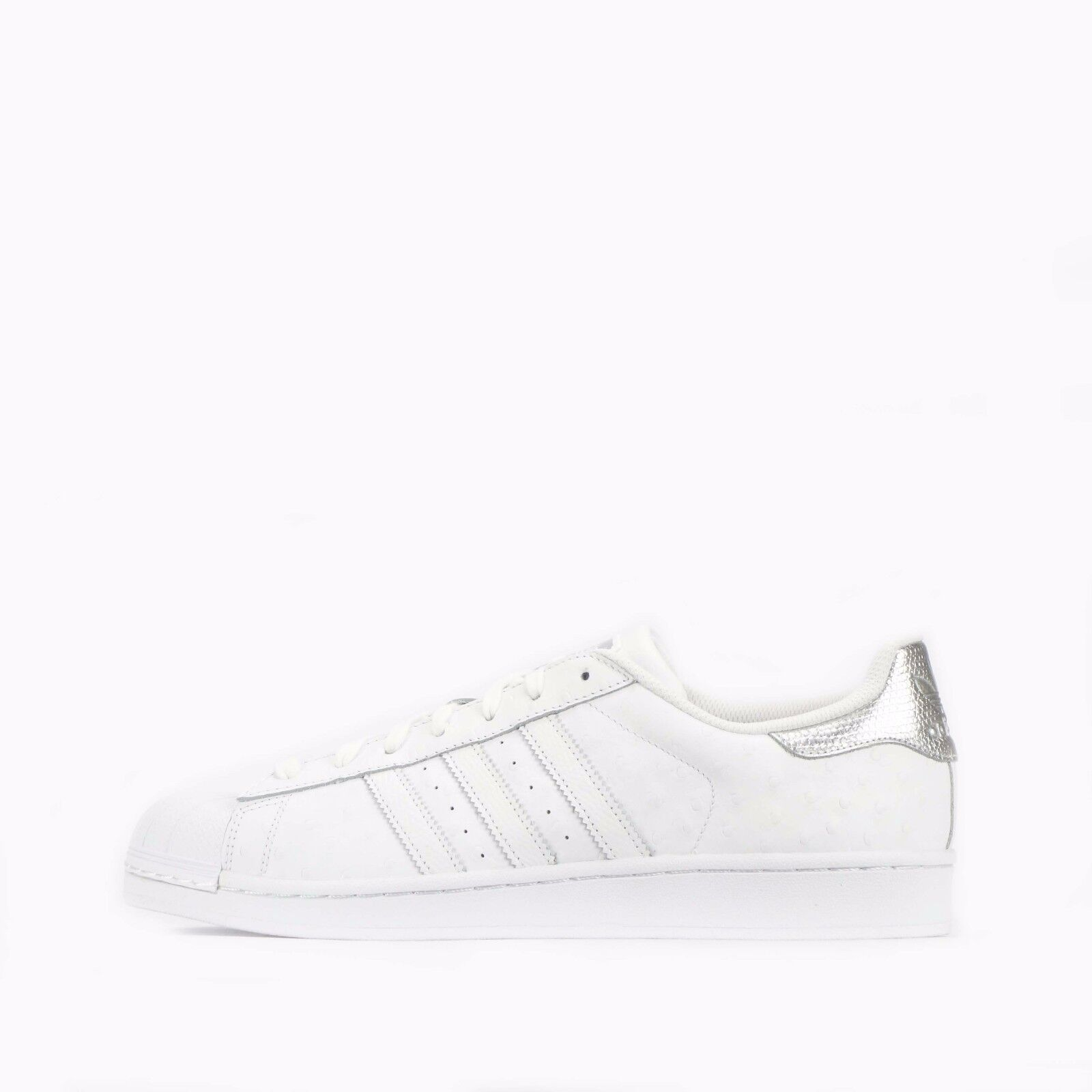 adidas Toe Originals Superstar Shell Toe adidas Hombre's Zapatos in Blanco/Plata be2d7f