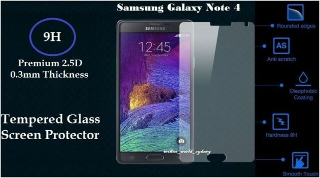 Scratch Resist Tempered Glass LCD Screen Protector For Galaxy Note 4 Edge Note 3