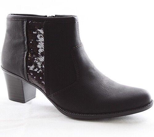 Rieker Stiefeletten Damen Zapatos Z7683-00  Damen Stiefel Warmfutter Schwarz Z7683-00 Zapatos e533f0