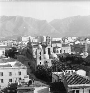 PALERME-c-1950-Vue-sur-la-Ville-Sicile-Italie-Negatif-6-x-6-ITAL-527
