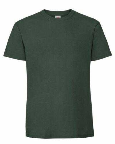 Fruit Of The Loom Mens Ringspun Premium Plain Crew Neck T-Shirt NEW S to 5XL
