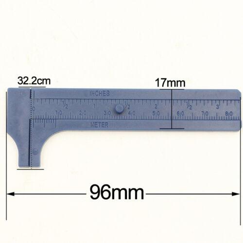 Mini Plastic Student Sliding Vernier Caliper Gauge Measure Measurement Tool 80mm