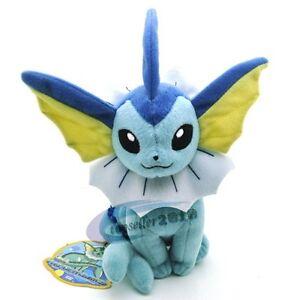 Pokemon-VAPOREON-Rare-Soft-Plush-Toy-Doll-Stuffed-Animal-Doll-toy-17CM-New
