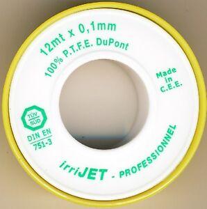 LOT DE 10 ROULEAUX DE TEFLON 12m x 25mm x 0,1mm PRO - 81TE250100C