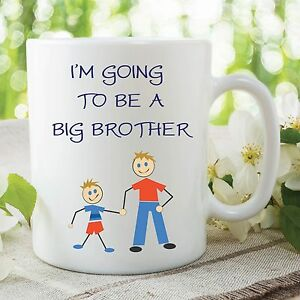 Details About Childrens Mug Im Going To Be A Big Brother Novelty Cup Birthday Gift WSDMUG135