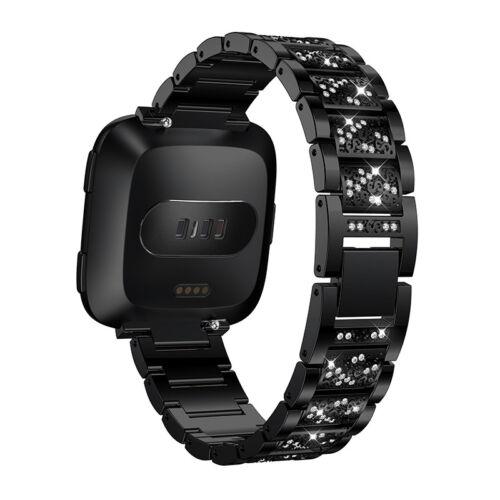 Versa 2 Diamond Bling Stainless Steel Strap Band Bracelet for Fitbit Versa