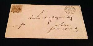 Kreuzer-Brief mit 9 Kr. (Nr. 11)/oMR 598 Würzburg nach Berlin/Kuvert Dr. Steidle