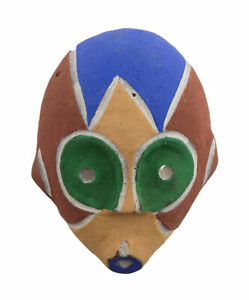 Mask Pasport African Terracotta Masquette Ritual Tribale Ethnic 7205