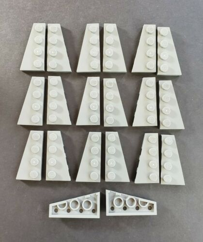 41770 R//L 10 Each Lego Dark Bluish Gray 2x4 Wing Plate Lot of 20 Part No 41769