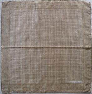 Superbe-Foulard-tour-de-cou-ANNE-KLEIN-soie-TBEG-vintage-65-x-67-cm