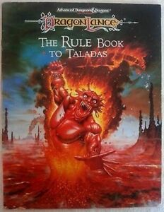 1x-Dragonlance-The-Rule-Book-to-Taladas-Used-Damaged-Products-D-amp-D-AD-amp-D-2e-2