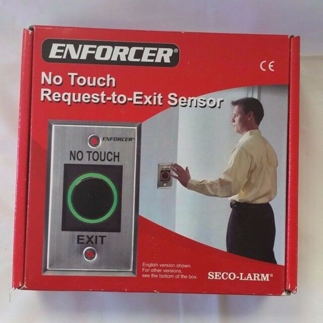Seco-Larm SD-927PKC-NEQ Enforcer Single-Gang No-Touch Request-to-Exit Sensor Switch Smarthome Technologies