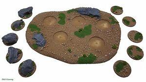 Details about Modular Rural Forest Terrain Base (Medium) Wargames  Scenery,Warhammer,Epic,FOW