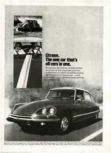 1969 CITROEN DS21 4-door sedan Vintage Print Ad on country road