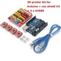 3D Printer Kit Set for Arduino CNC Shield V3 + UNO R3 + 4X A4988 GRBL Compatible