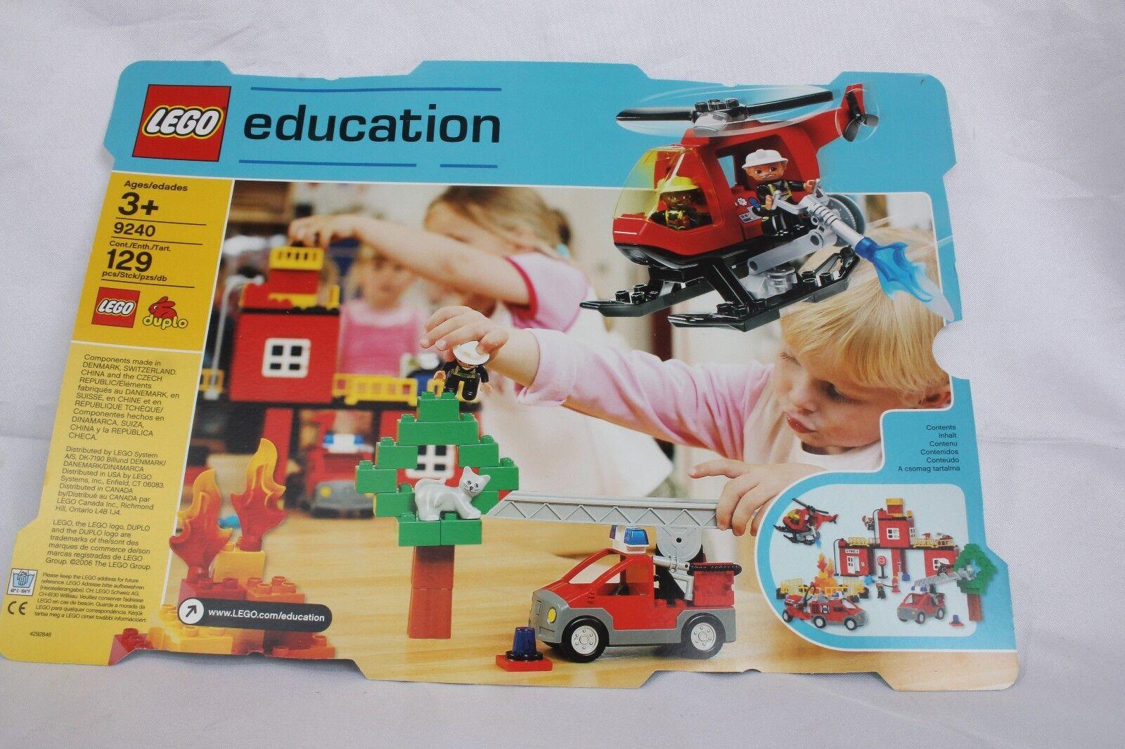 NIB Lego Education Fire Station Fire Rescue Services Set 129 Pieces  9240