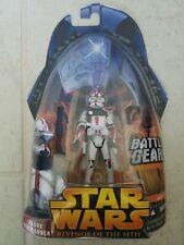 Star Wars ROUGE HASBRO Clone Commandant #33 REVENGE OF THE SITH FIGURE 2005 NEUF!!!
