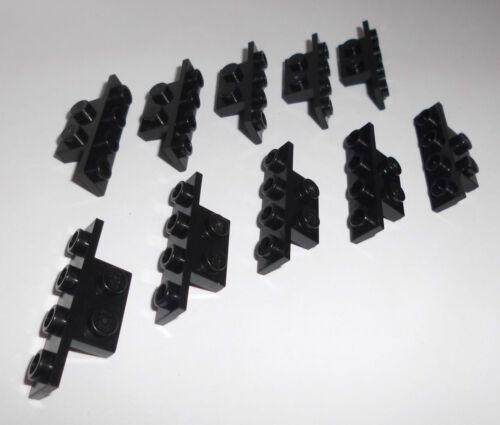 LEGO in Nero da 7171 7191 10188 7659 8039 10 angolo 90 ° 1x4-1x2 2436