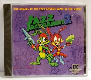 JAZZ JACKRABBIT 2 Arcade PC Game 1997 CD Jewel Case   NEW / SEALED **read**