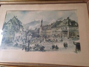 HANS-LISKA-PAINTING-MARKET-PLACE-WEINHAM-SIGNED-AND-DATED