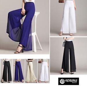 Pantaloni-Donna-Larghi-Leggeri-Doppio-Velo-Eleganti-Woman-Trousers-TRA028