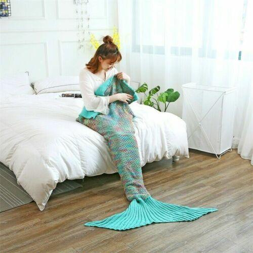 Decke Schwanz Meerjungfrau Mermaid Flosse Quilt Schwanzflosse 2 Größen 9 Farben