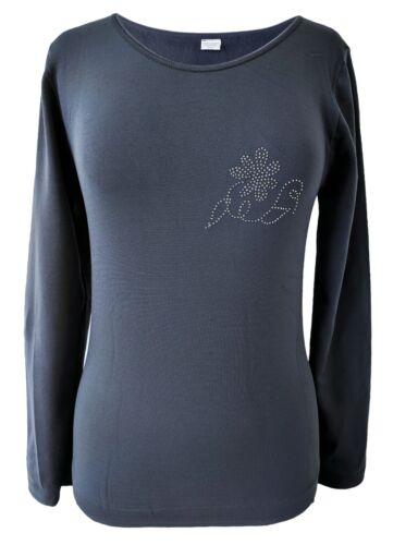 Langarm mit Innenfleece Thermo Shirt mit Rundhals Damen Winter-Unterhemd
