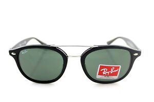 NEW Authentic RAY-BAN DOUBLE BRIDGE Black Green Classic Sunglasses ... a94cdf4c2098