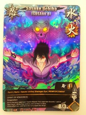 Naruto Fan Prism Foil Custom Card Game CCG Sasuke Uchiha Set TP5 934