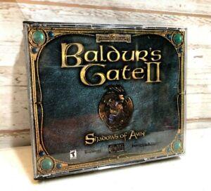 Baldur-039-s-Gate-II-2-Shadows-Of-Amn-2000-Game-Small-Box-PC-Complete-Mint-Discs