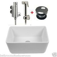 Hygienic Wudu Feet Hands Face Foot 500mm Wash Basin Water Cleansing & Spray Kit