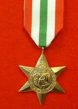 World War II Italy Star WW 2 Military Medals WW II