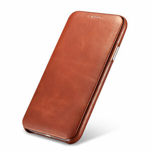 NOVADA-Genuine-Leather-iPhone-X-amp-XS-Flip-Case-Cover-Vintage-Collection