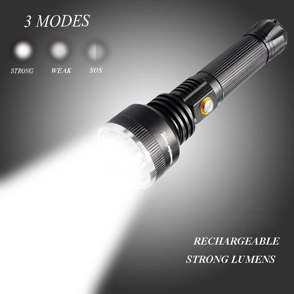 Led Lampe Rechargeable 30000lm Torche Randonnée T6 De Tactique Puissante eWdxQCrBo