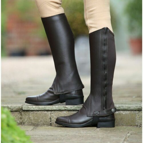 Shires Performance Cantley Leather Half Chaps