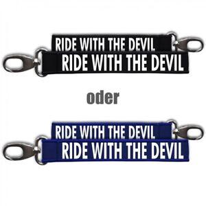 Ehrlich Neopren Schlüsselanhänger Schlüsselband Ride With The Devil Motorrad Biker Custo Grade Produkte Nach QualitäT