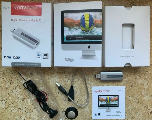 Elgato EyeTV Hybrid, USB 2 Digital-TV-Stick für DVB-C u. DVB-T
