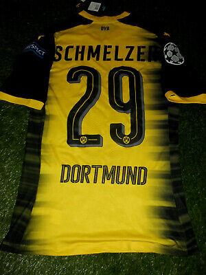 Flock Original BVB Borussia Dortmund Trikot 25cm SCHMELZER 29