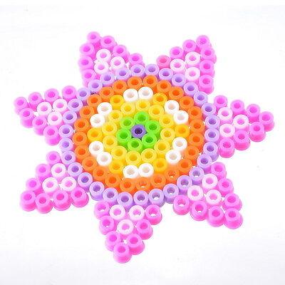 1Set Hama Perler Beads Kids DIY Funny Crafts Flower P-together Creative Toys HOT