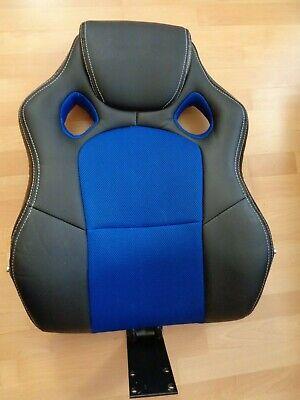 ** Rückenlehne Von Racing Bürostuhl ** Schwarz/blau ** Neu Eine GroßE Auswahl An Farben Und Designs